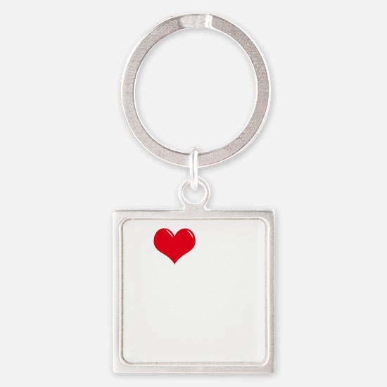 I-Love-My-Boxer-dark Square Keychain