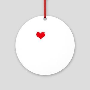 I-Love-My-Boxer-dark Round Ornament