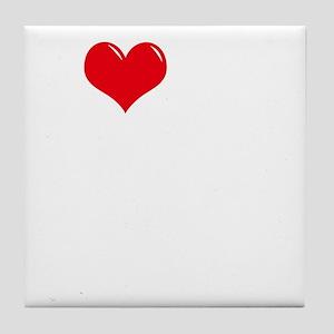 I-Love-My-Boxer-dark Tile Coaster