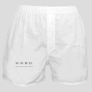 White with Black Boxer Shorts