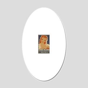 ART mini poster Nurse the Ba 20x12 Oval Wall Decal