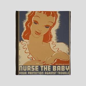 ART mini poster Nurse the Baby Throw Blanket