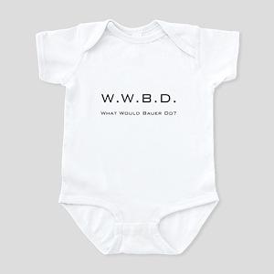 White with Black Infant Bodysuit