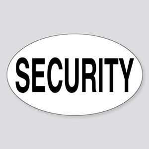 SECURITY Oval Sticker