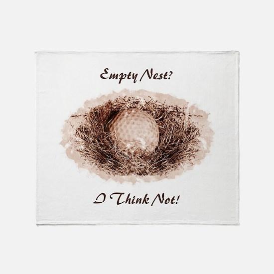 Golf Ball Empty Nest Throw Blanket