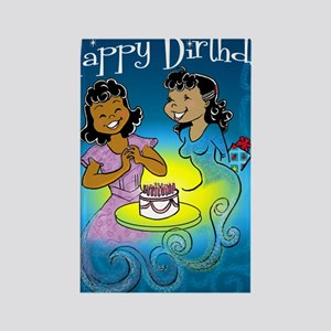 sisters birthday copy Rectangle Magnet