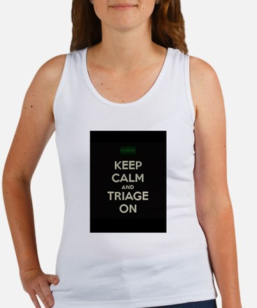 keep calm and triage on larger Tank Top