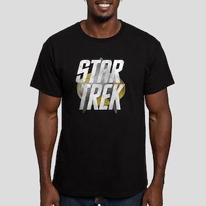 3-star-trek-logo-for-d Men's Fitted T-Shirt (dark)