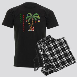 2-ChristmasPalmtree Men's Dark Pajamas