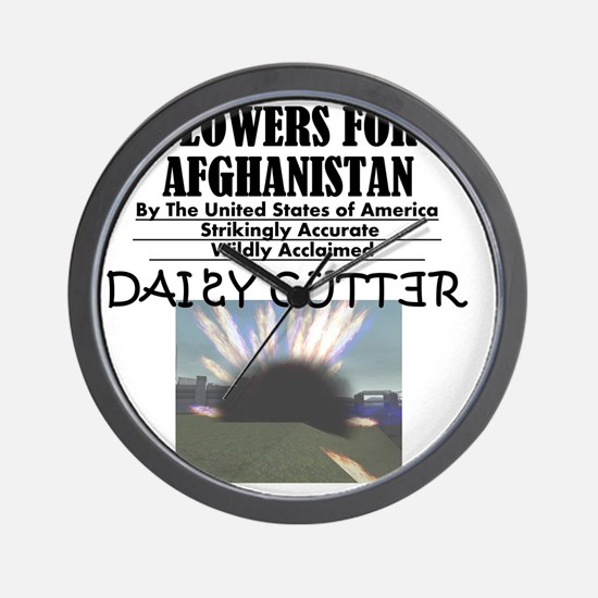 flowers-for-afghanistan Wall Clock