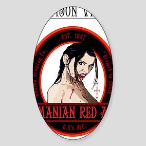 Beer_label_Vampire_noback Sticker (Oval)