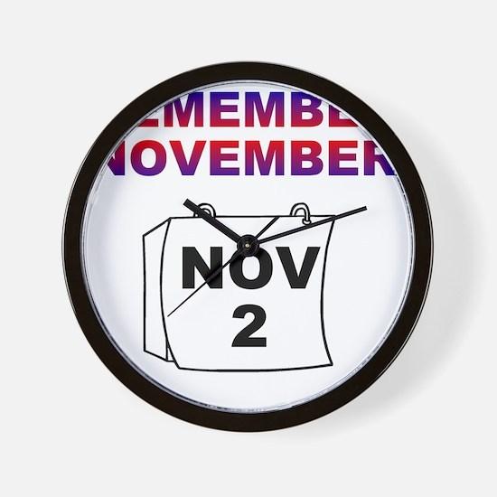 remember-november Wall Clock