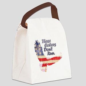 Eagle flag Canvas Lunch Bag