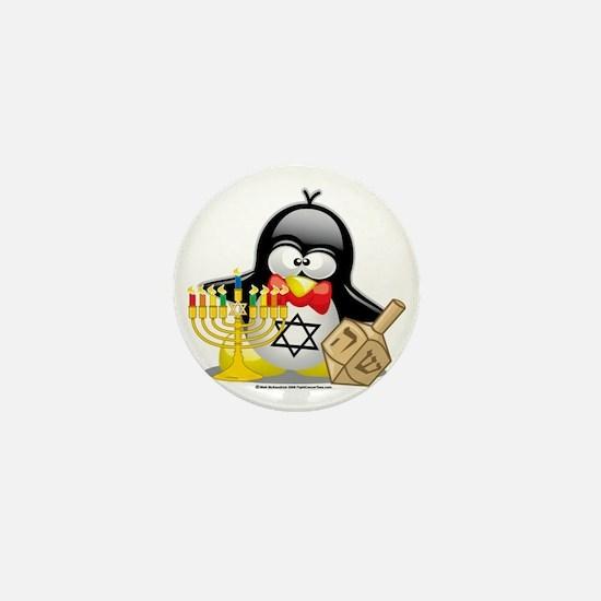 Penguin-Hanukkah Mini Button
