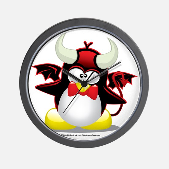 Penguin-Devil Wall Clock