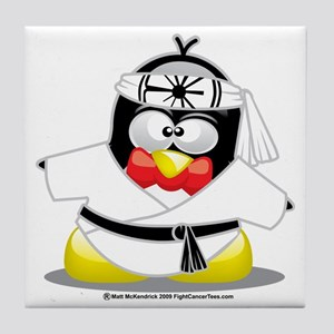 Karate-Penguin Tile Coaster
