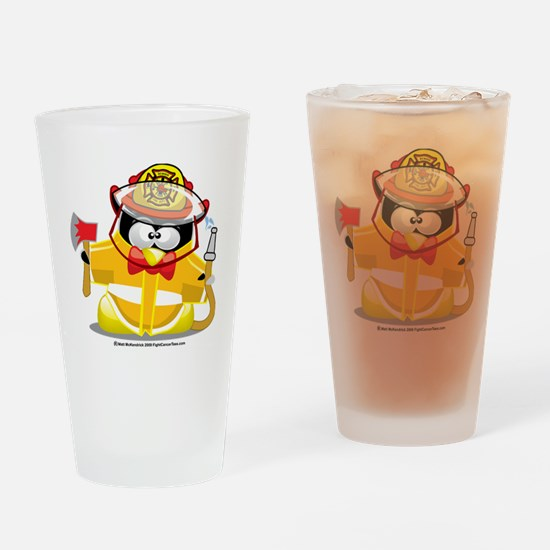 Fireman-Penguin Drinking Glass