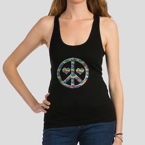 Peace love hearts Racerback Tank Top