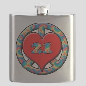 peace love 21 copy Flask