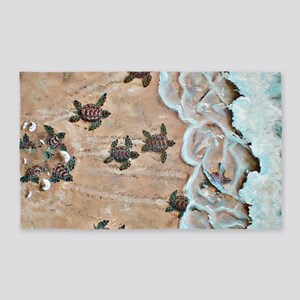 Race To The Sea horizontal 3'x5' Area Rug