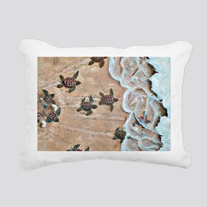 Race To The Sea horizont Rectangular Canvas Pillow