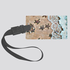 Race To The Sea horizontal Large Luggage Tag