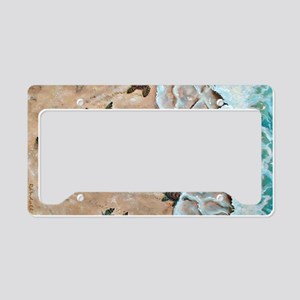 Race To The Sea horizontal License Plate Holder