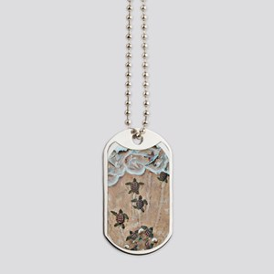 2-Race To The Sea oval copy Dog Tags
