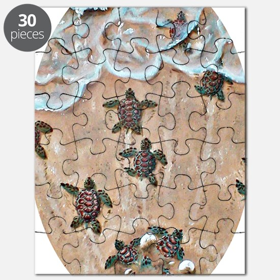 2-Race To The Sea oval copy Puzzle