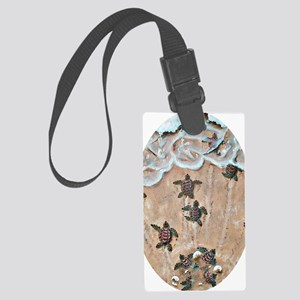 2-Race To The Sea oval copy Large Luggage Tag