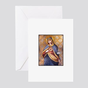 Virgin Mary - Sacred Heart Greeting Cards (Package