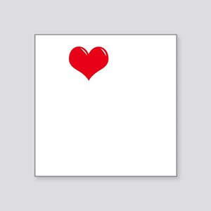 "I-Love-My-Schnoodle-dark Square Sticker 3"" x 3"""