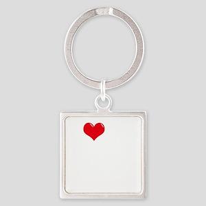 I-Love-My-Schnoodle-dark Square Keychain