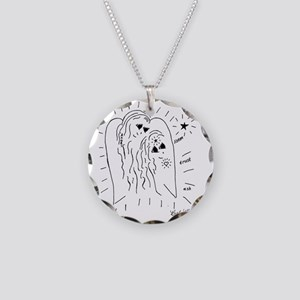 Listen, Trust, and Ask Necklace Circle Charm