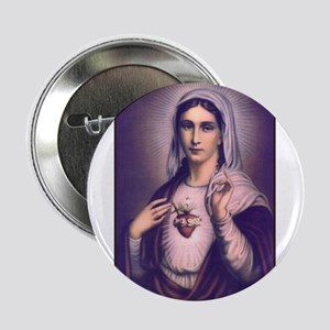 Virgin Mary - Sacred Heart Button