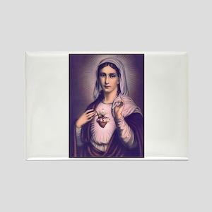 Virgin Mary - Sacred Heart Rectangle Magnet