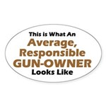 Gun-Owner Oval Sticker