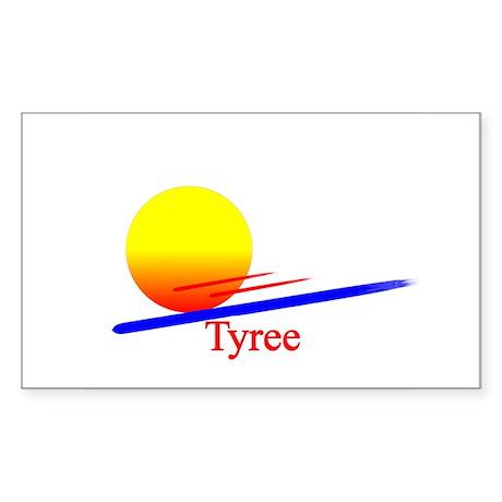 Tyree Rectangle Sticker