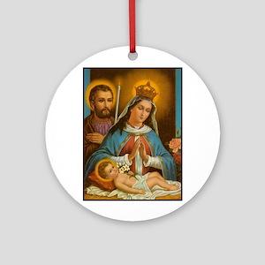 Holy Family - Nativity Ornament (Round)