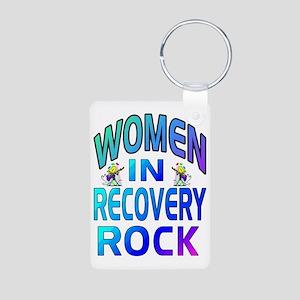 WOMEN ROCK Aluminum Photo Keychain