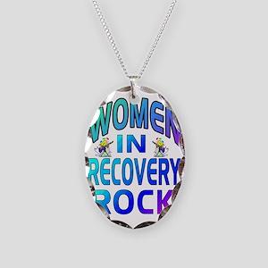 WOMEN ROCK Necklace Oval Charm