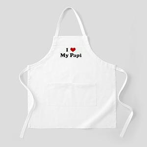 I Love My Papi BBQ Apron