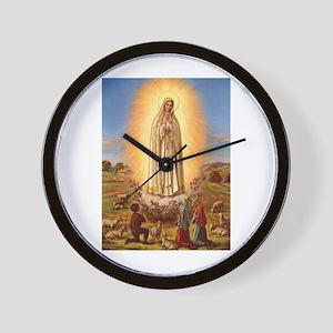 Virgin Mary - Fatima Wall Clock