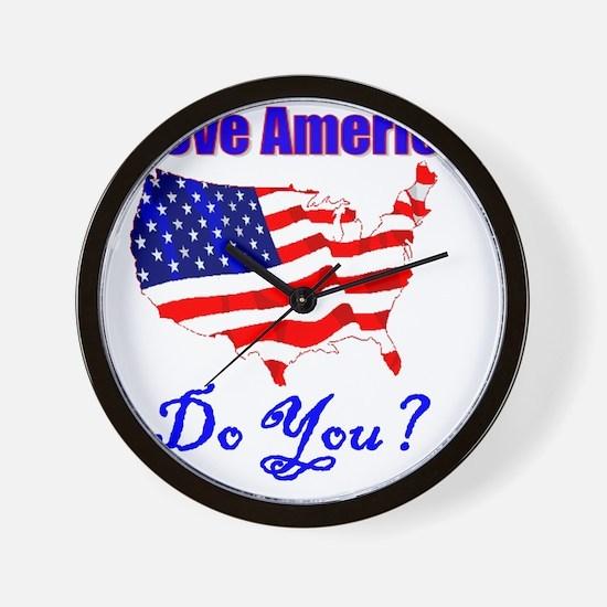 i-love-america Wall Clock