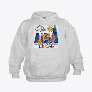 Chicago Cute Kids Skyline Kids Hoodie