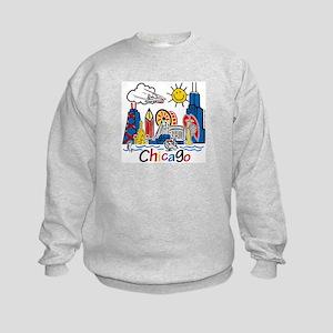 Chicago Cute Kids Skyline Kids Sweatshirt