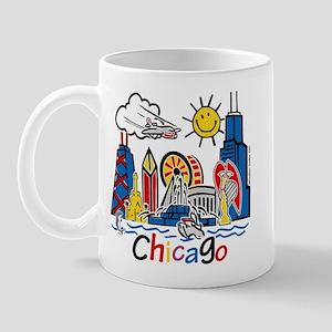 Chicago Cute Kids Skyline Mug