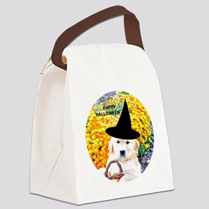 Halloween Funny Puppy Button, Mag Canvas Lunch Bag