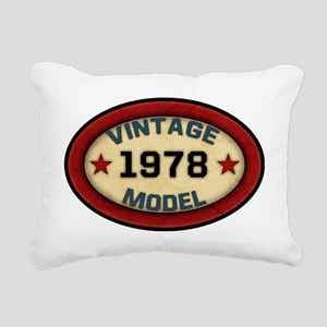 vintage-model-1978 Rectangular Canvas Pillow