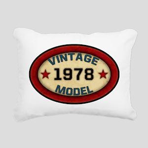 vintage-model-1978 Rectangular Canvas Pillow